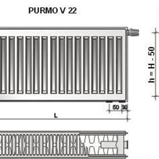 purmo ventil compact cv22 600x600 f072206006011300. Black Bedroom Furniture Sets. Home Design Ideas